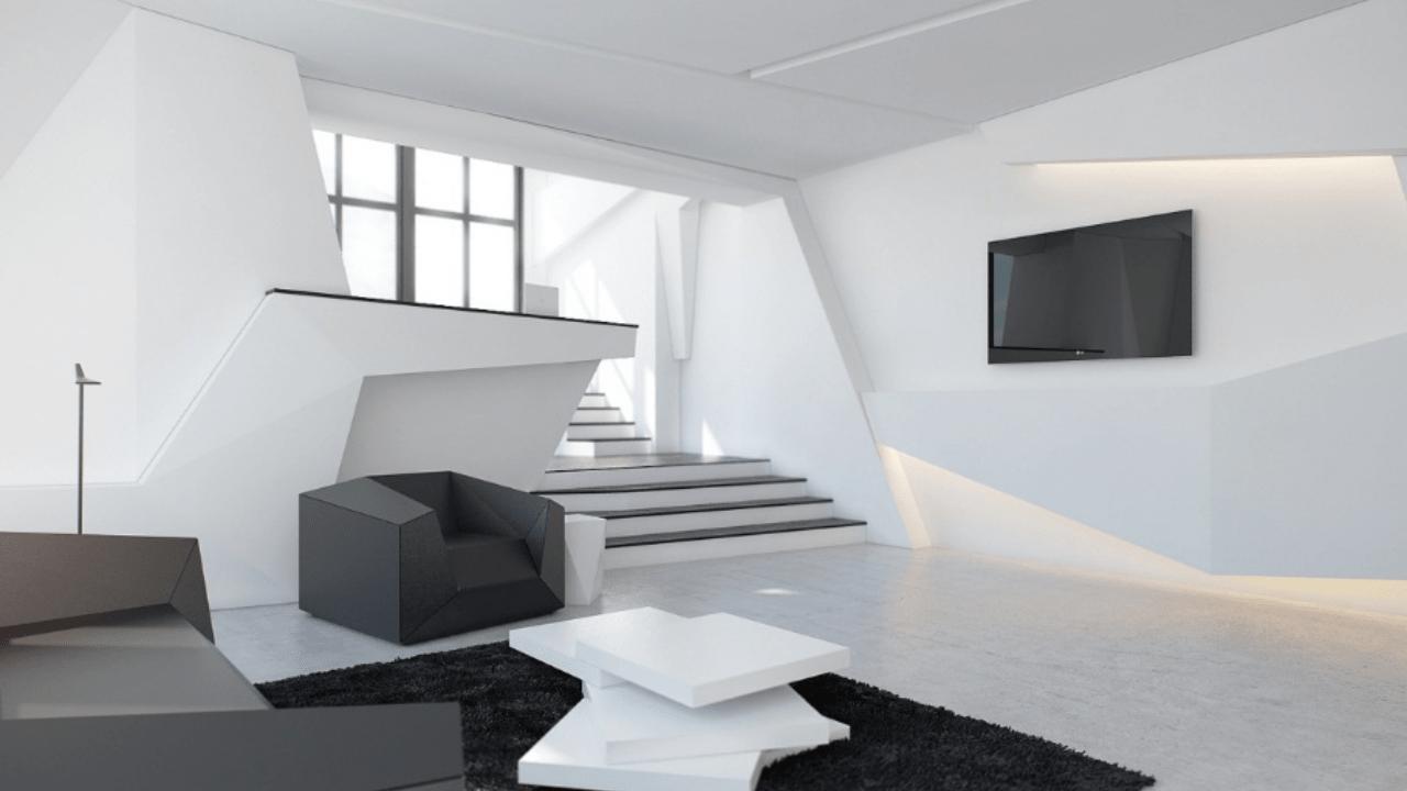 desain interior rumah futuristik