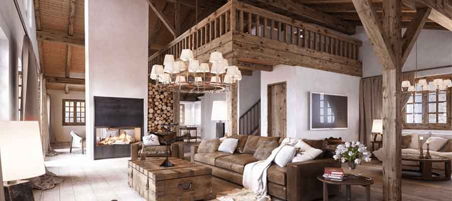 desain interior rumah rustic