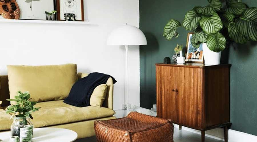 warna ruangan hijau tua