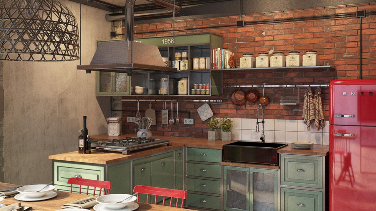 konsep dapur industrialis