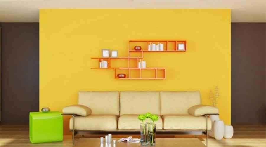 gambar ruang keluarga warna kuning